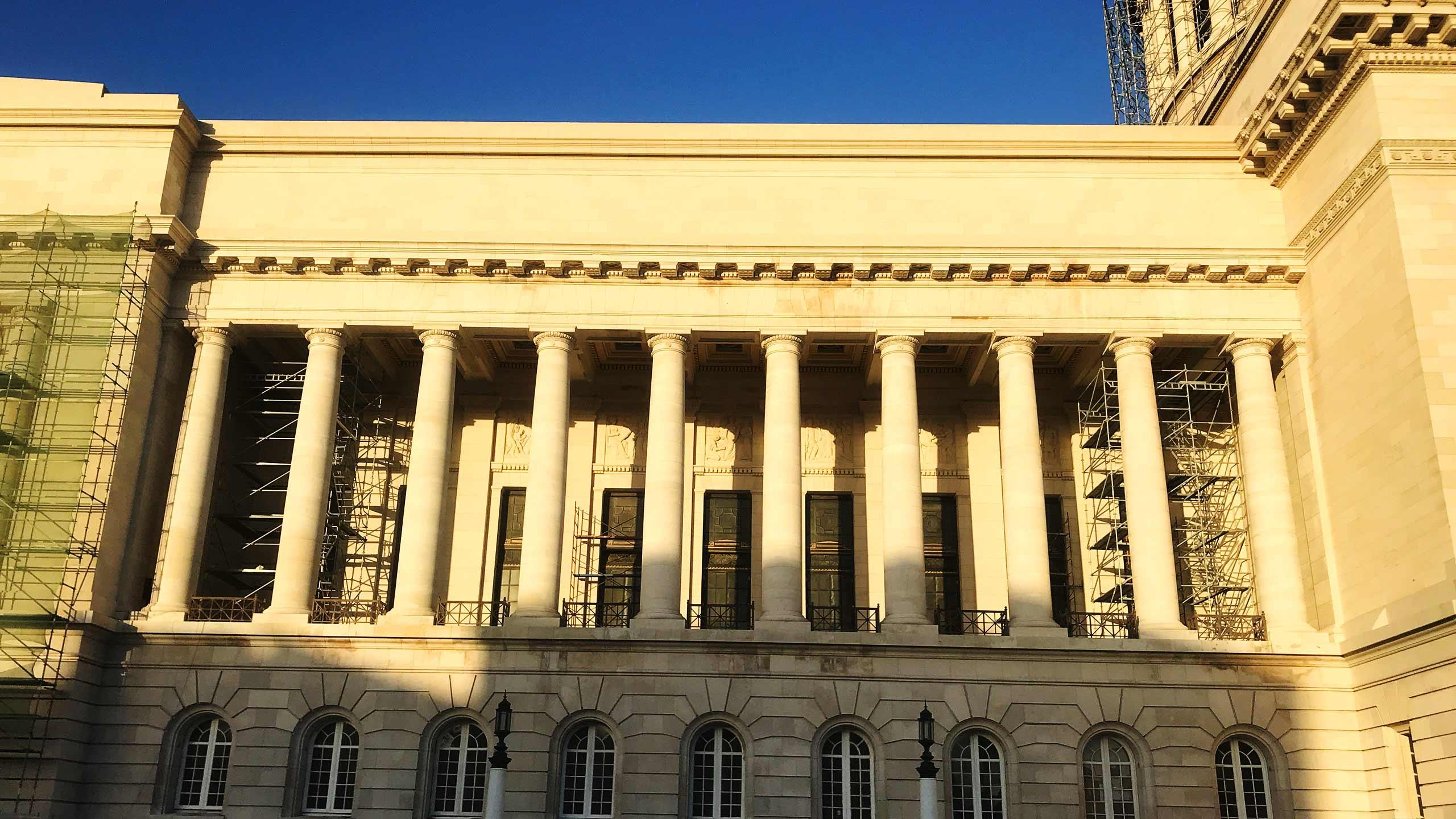 Detail der Restaurationsarbeiten von MD Projektmanagement am Capitol in Havanna, Kuba